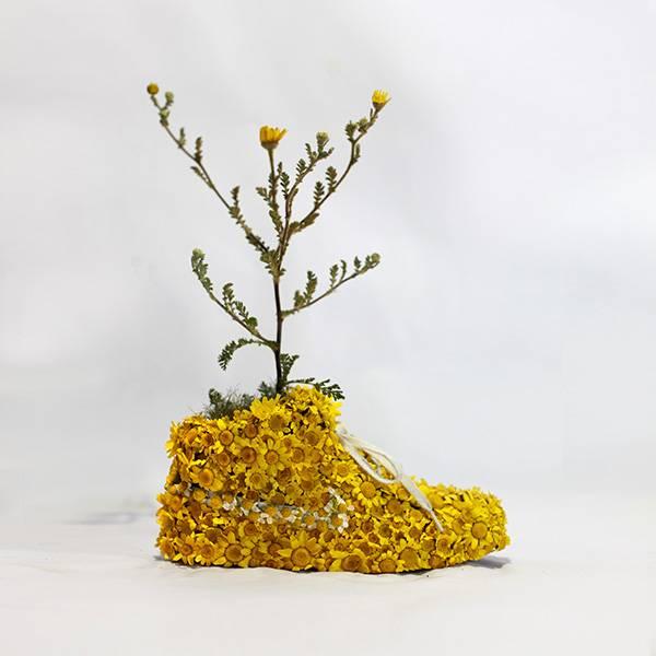 Nike_yellow_shoes_flowers_instagram_la slow life Mr Plant